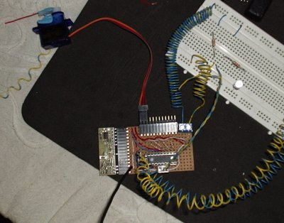 The Weather Machine circuit board with PicAxe
