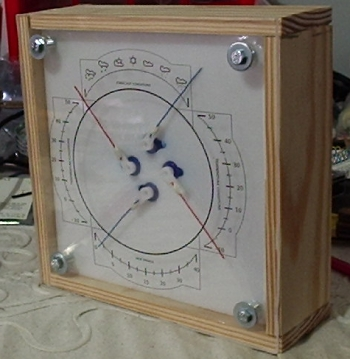 The Weather Machine with the wooden frame
